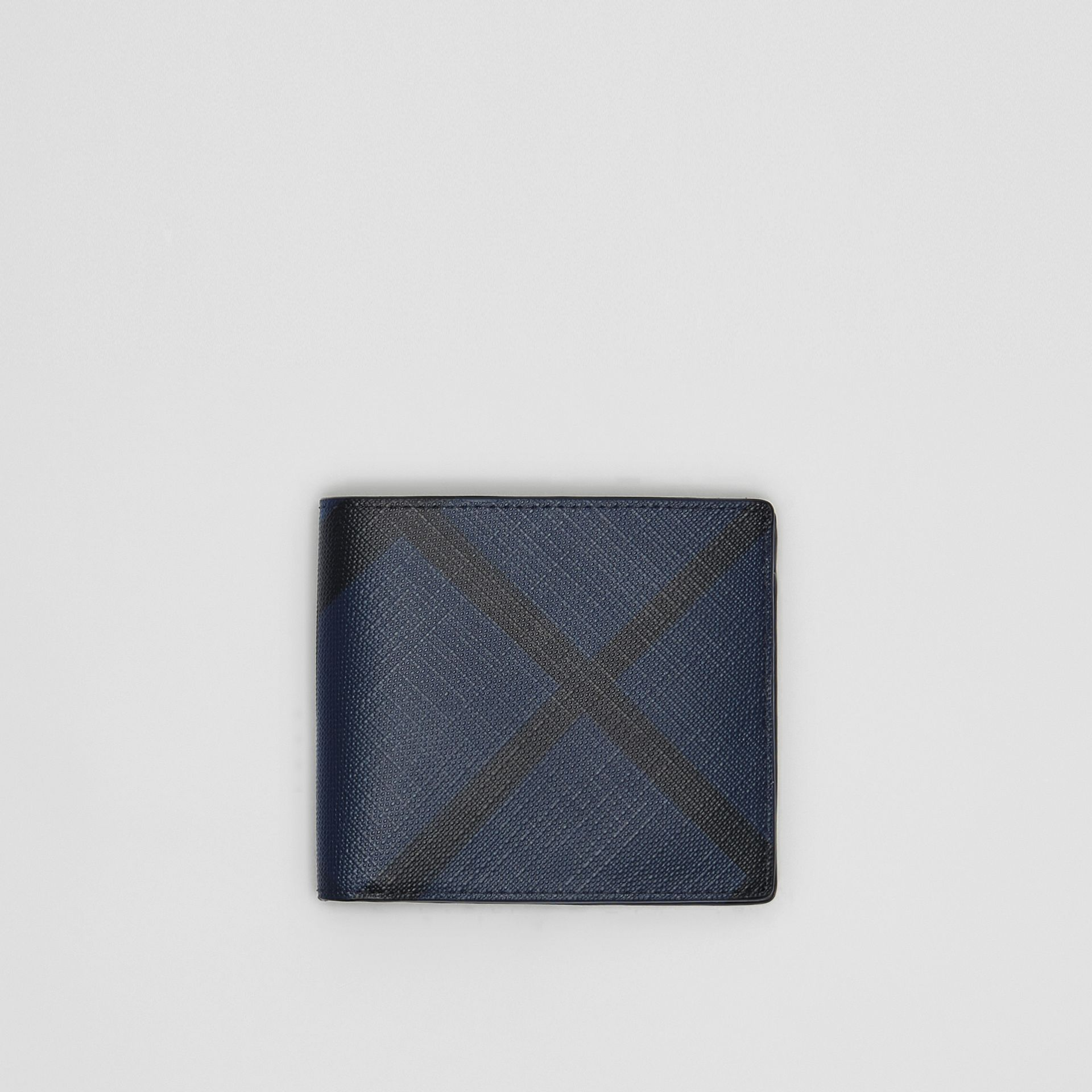 London Check ID Wallet in Navy/black - Men | Burberry Hong Kong - gallery image 0