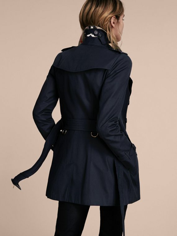 Navy The Chelsea – Short Heritage Trench Coat Navy - cell image 2