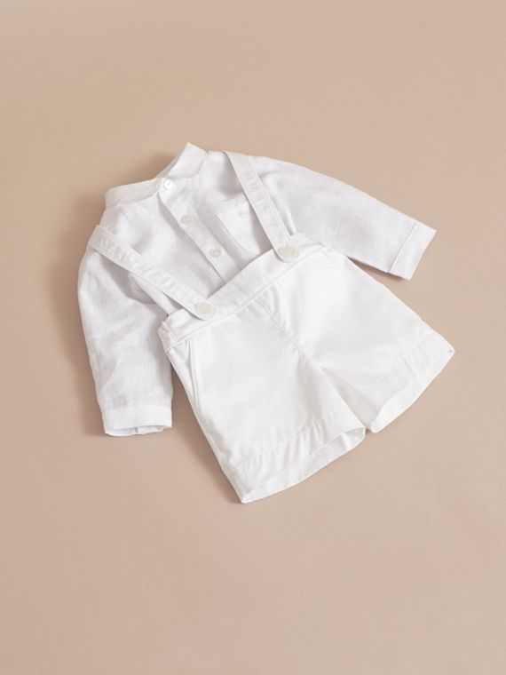 Shirt and Shorts Two-piece Baby Gift Set - Children | Burberry - cell image 2