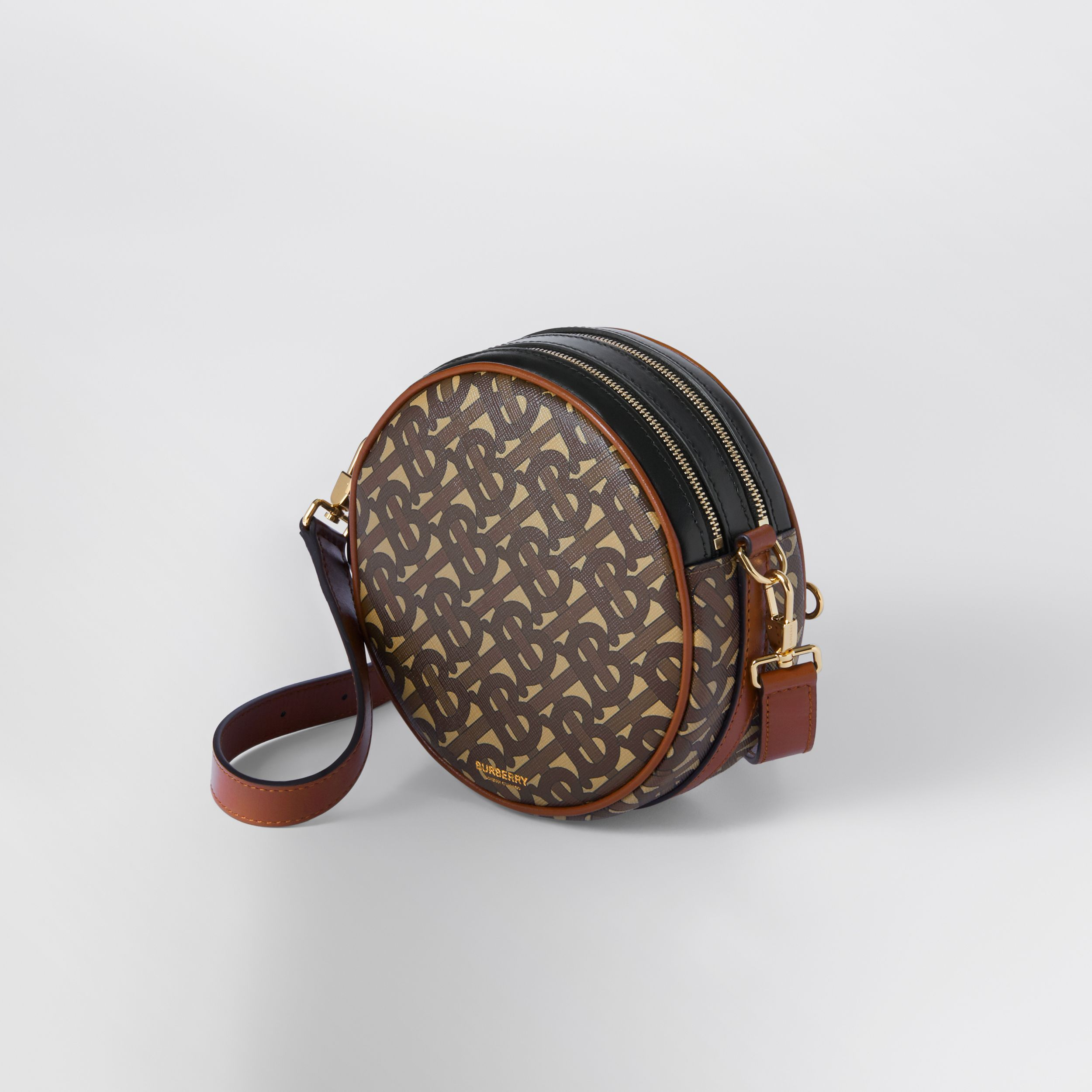 Monogram Print E-canvas Louise Bag in Bridle Brown - Women | Burberry Hong Kong S.A.R. - 4