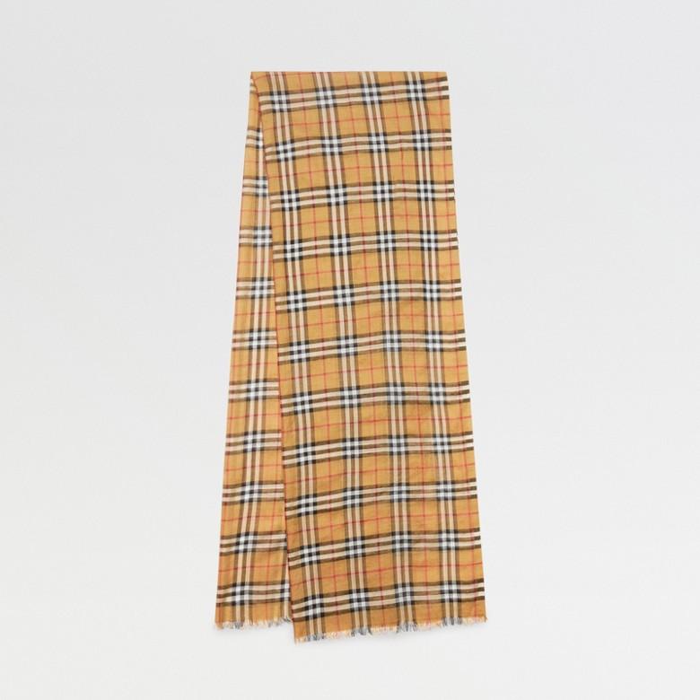 Burberry - Écharpe légère en laine et soie à motif Vintage check - 1