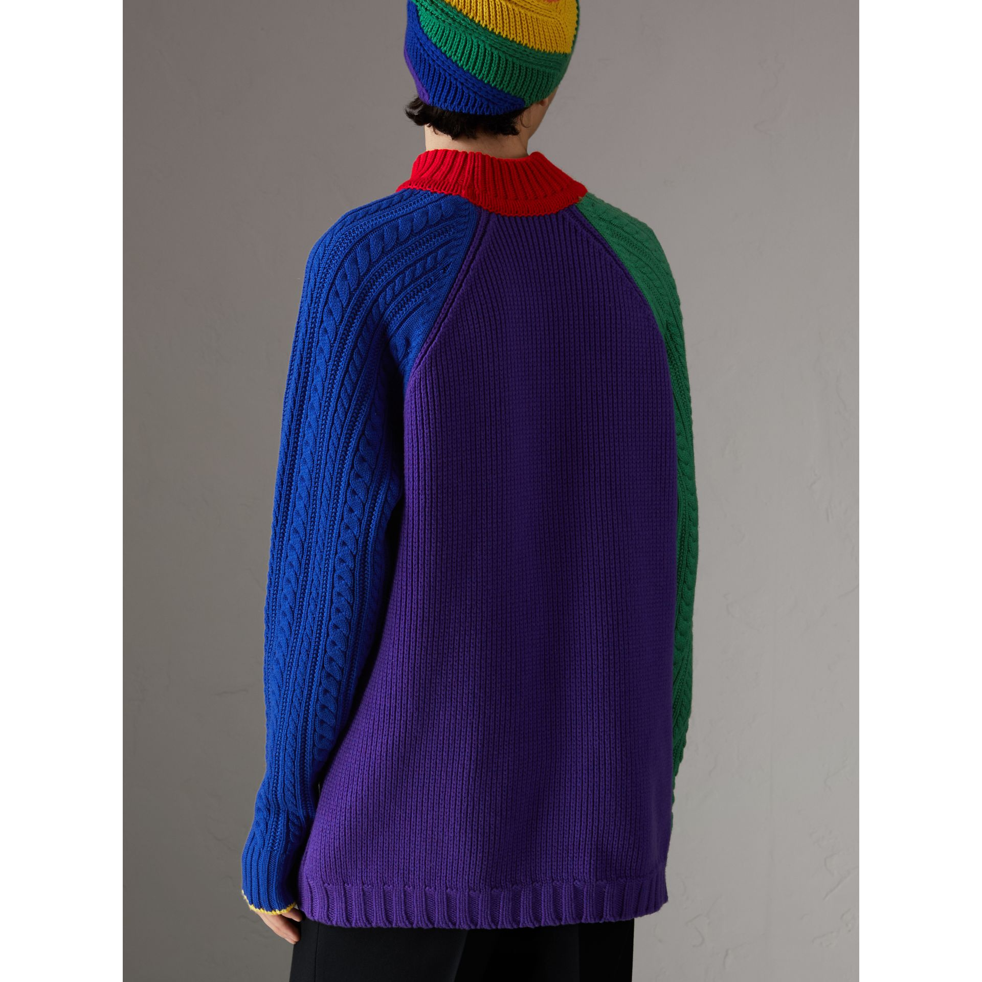 Rainbow Wool Cashmere Sweater | Burberry Singapore - gallery image 2