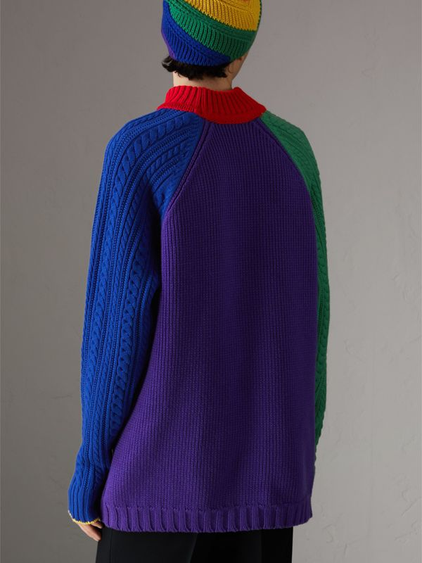 Rainbow Wool Cashmere Sweater | Burberry Singapore - cell image 2