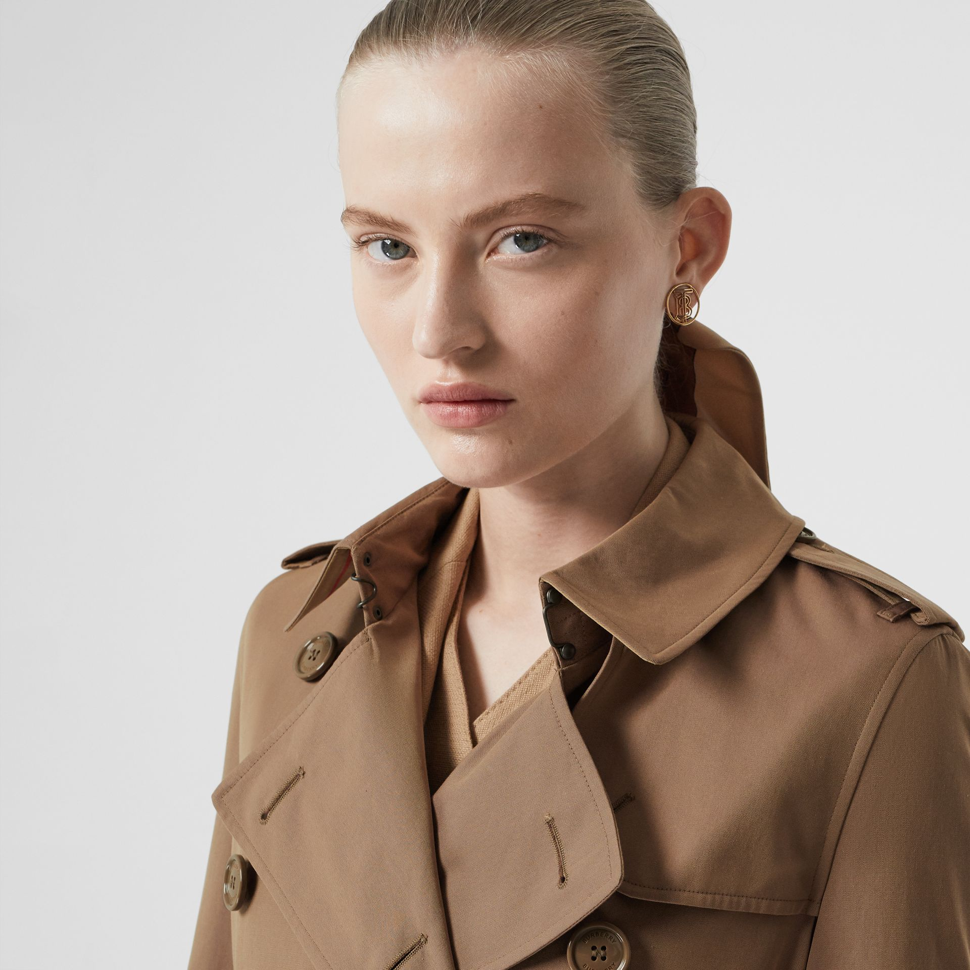 Trench en gabardine tropicale (Taupe) - Femme | Burberry - photo de la galerie 1