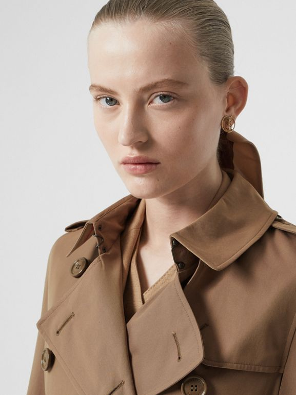 Tropical Gabardine Trench Coat in Taupe - Women | Burberry - cell image 1