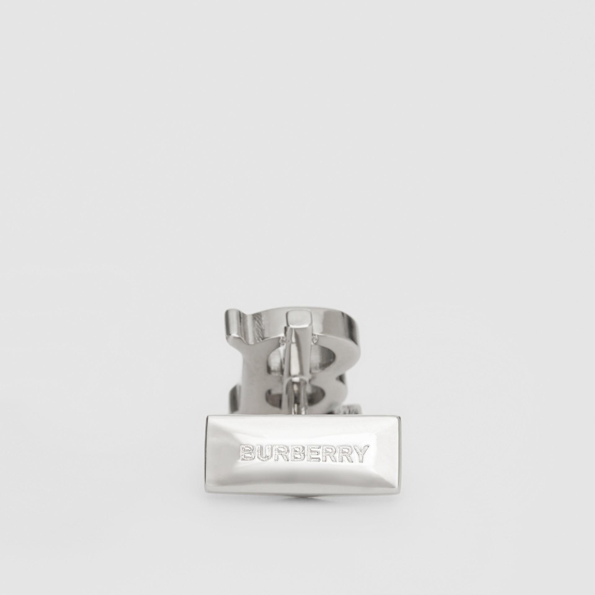 Boutons de manchette plaqués palladium Monogram - Homme | Burberry - photo de la galerie 1