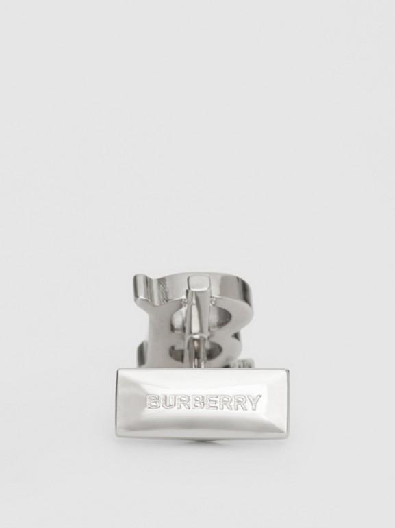 Monogram Motif Palladium-plated Cufflinks - Men | Burberry Australia - cell image 1