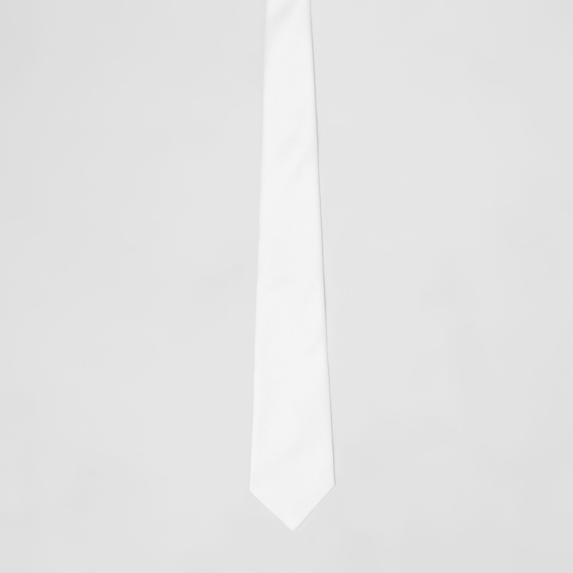Classic Cut Silk Tie in Natural White - Men | Burberry - gallery image 2