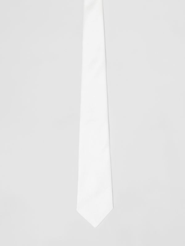 Classic Cut Silk Tie in Natural White - Men | Burberry - cell image 2