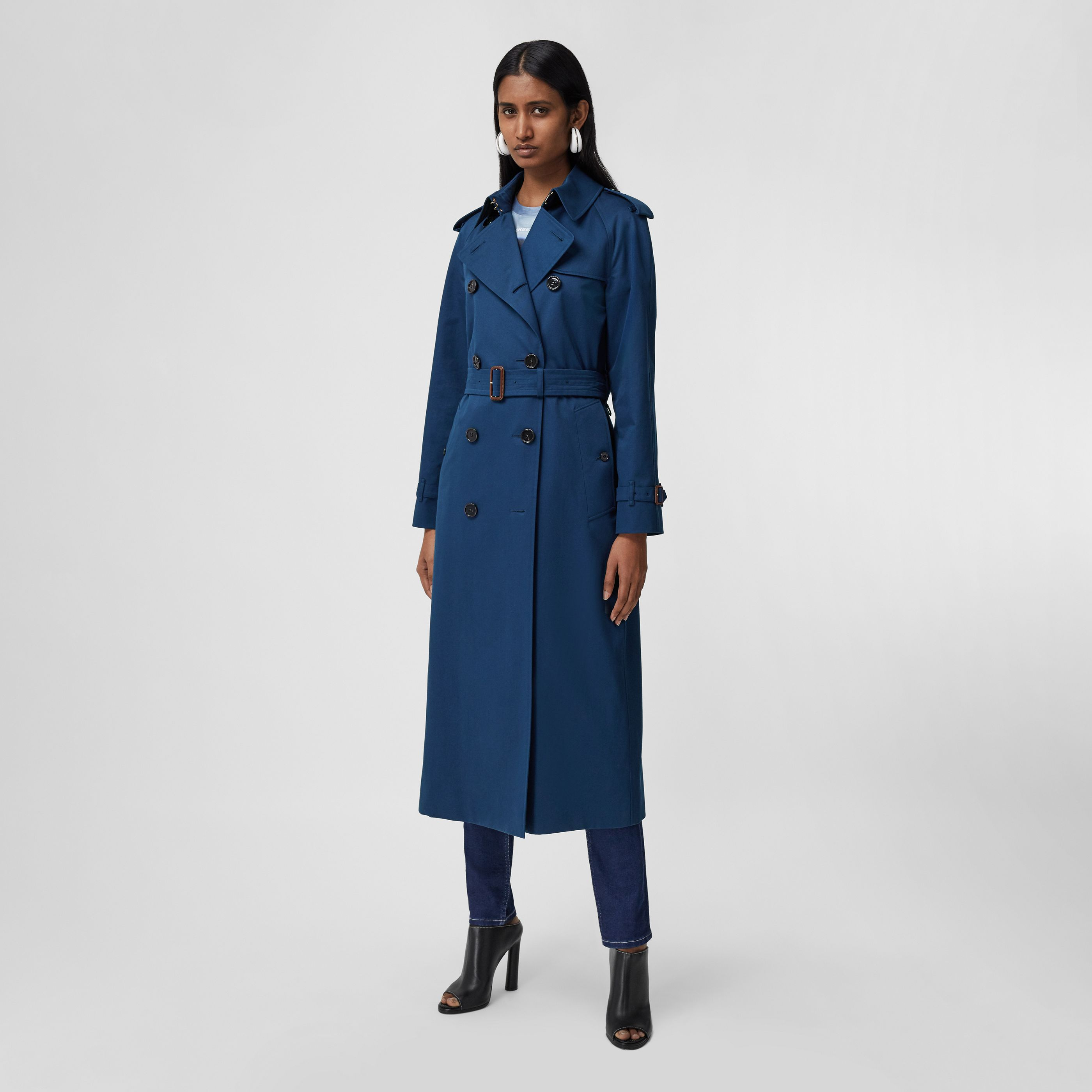 Trench coat The Waterloo extra lungo (Blu Inchiostro) - Donna | Burberry - 7