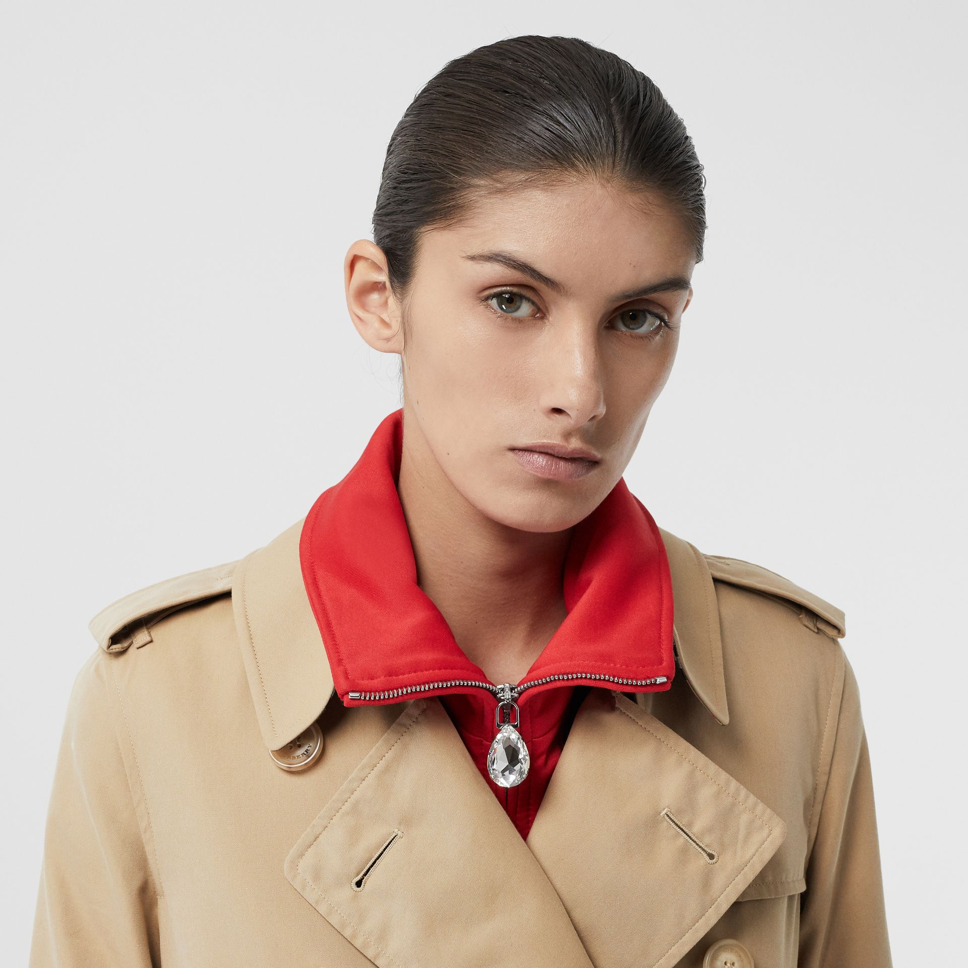 The Kensington – Trench Heritage long (Miel) - Femme | Burberry Canada - photo de la galerie 1