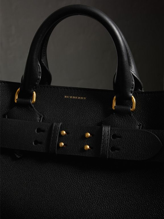 The Large Leather Belt Bag in Black/yellow | Burberry United States - cell image 1