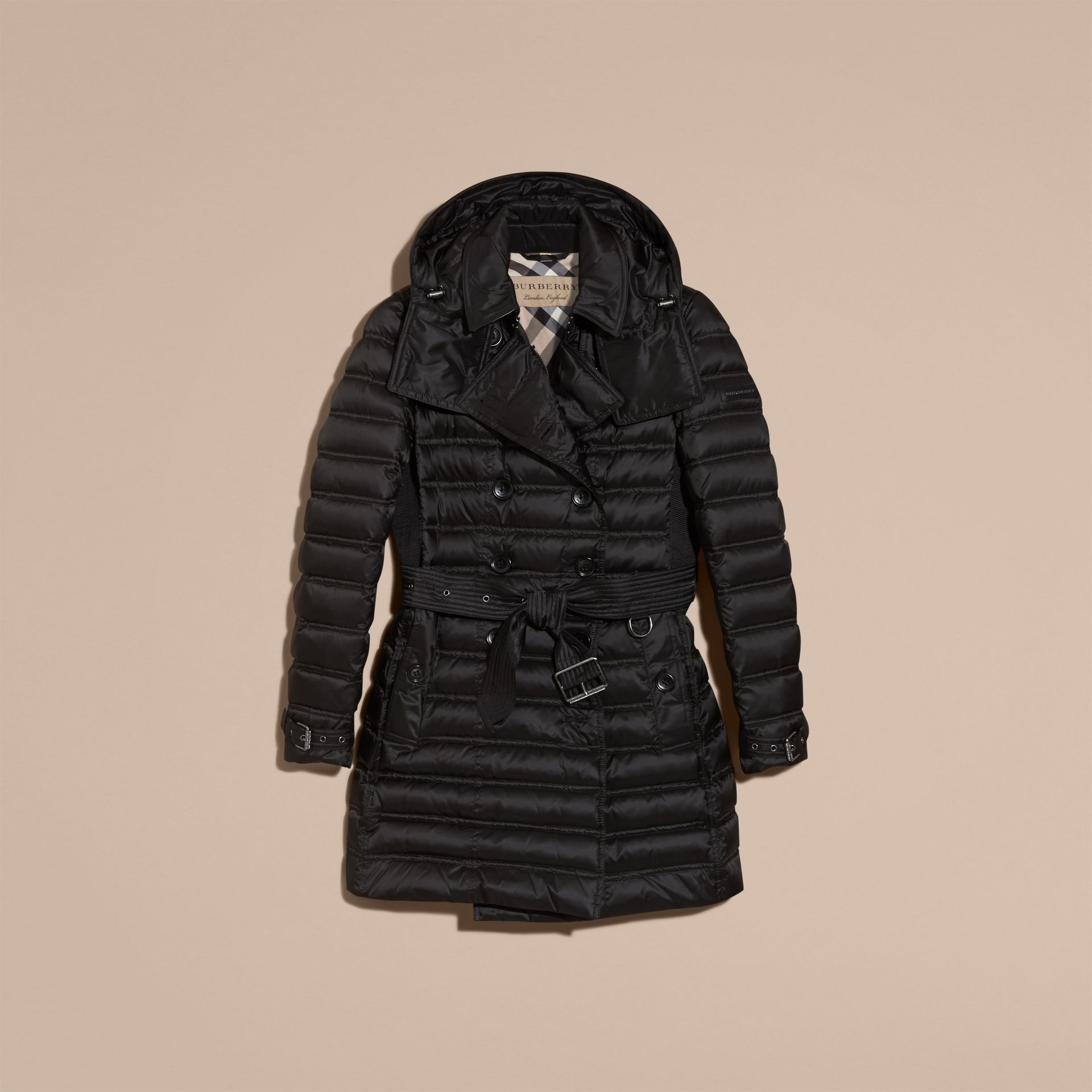 Black Down-filled Puffer Coat Black - gallery image 4