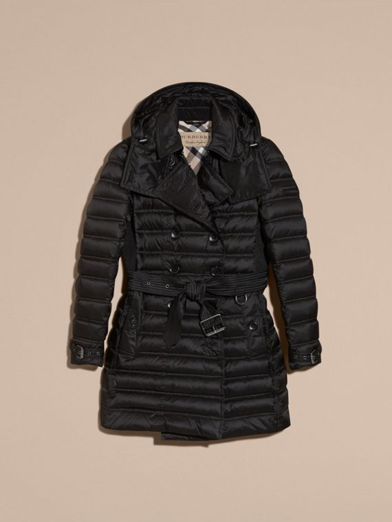 Black Down-filled Puffer Coat Black - cell image 3