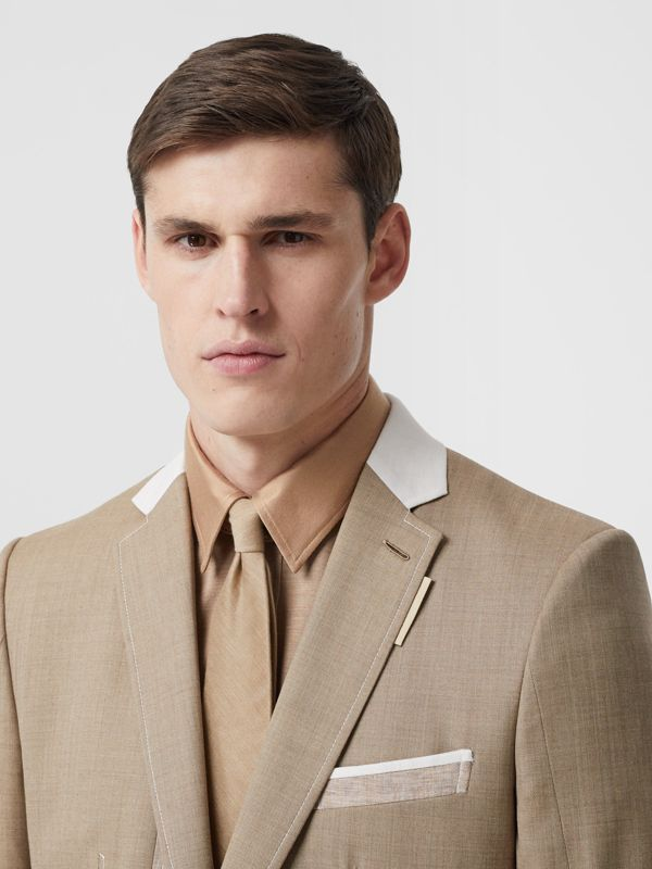 Classic Cut Silk Tie in Soft Fawn | Burberry - cell image 2
