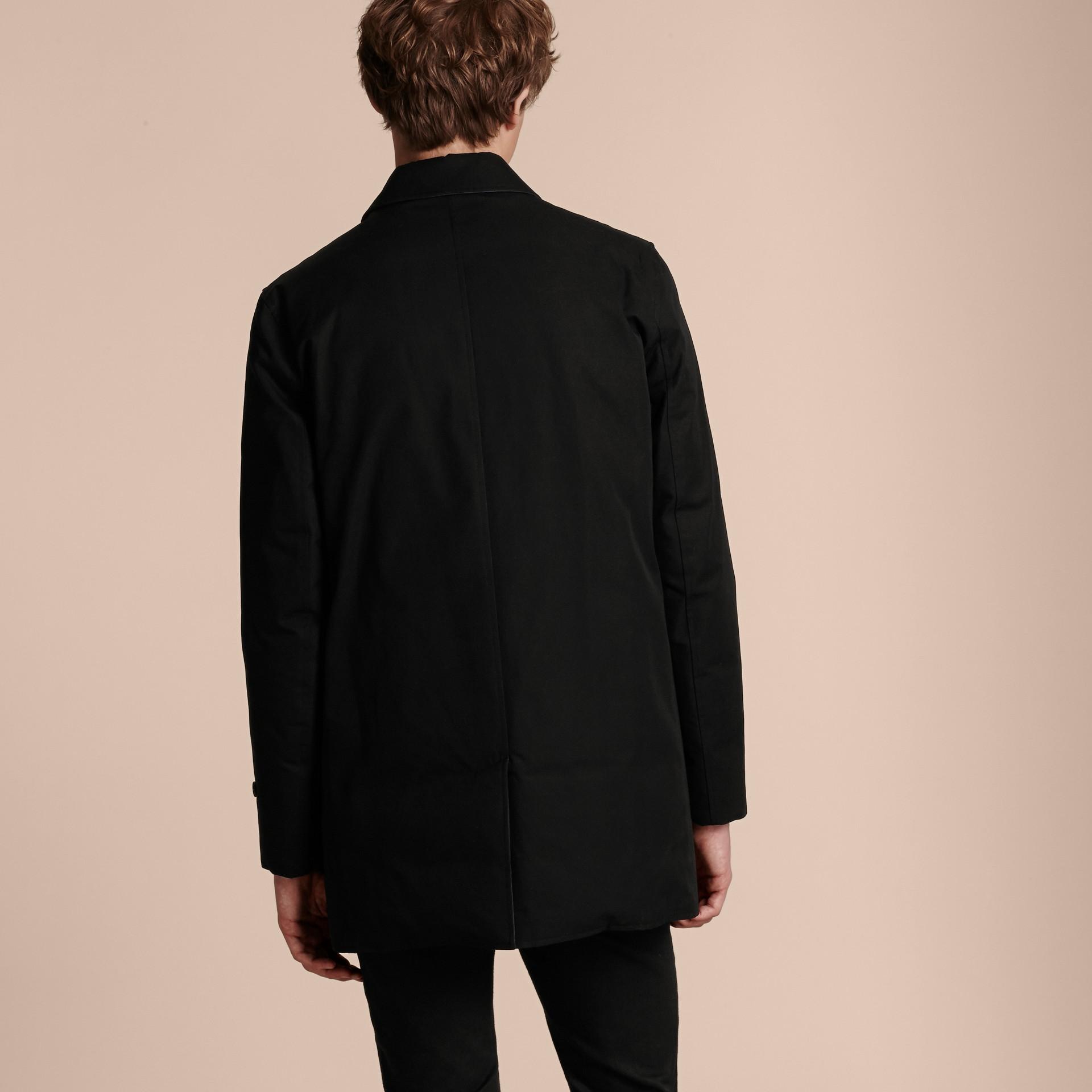 Nero Cappotto double face imbottito in gabardine di cotone - immagine della galleria 6
