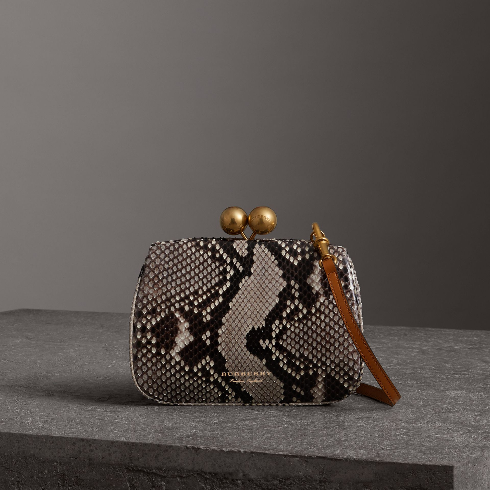 Small Python Frame Bag in Natural - Women | Burberry Singapore - gallery image 0
