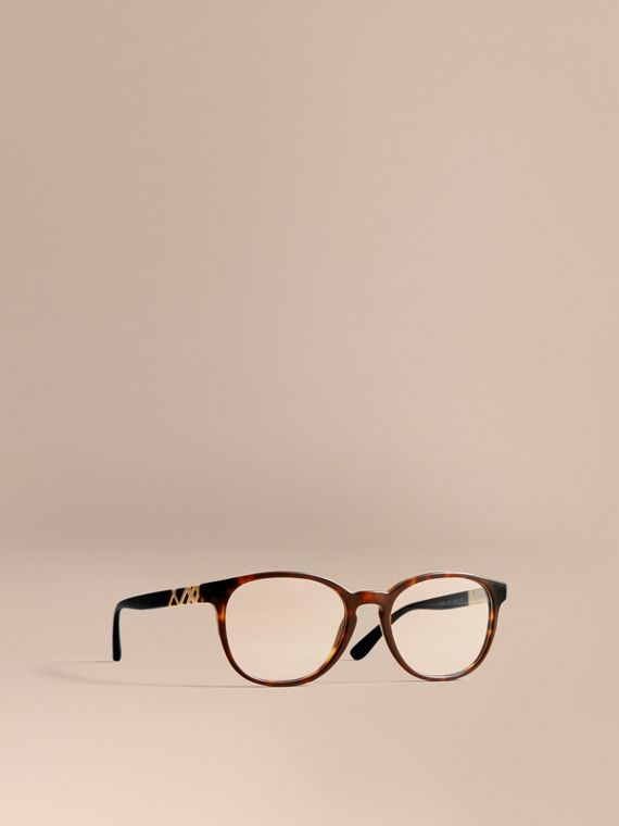 Check Detail Round Optical Frames Tortoiseshell
