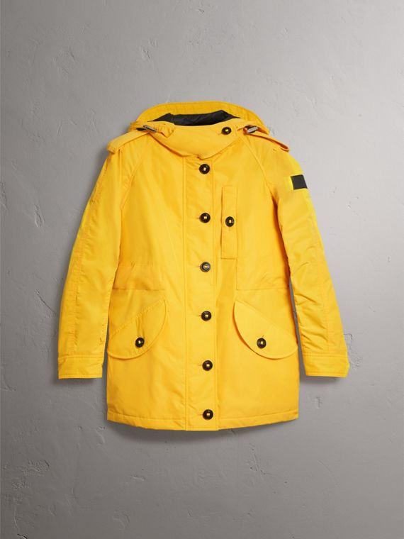 Technical Taffeta Hooded Parka in Bright Yellow - Women | Burberry - cell image 3