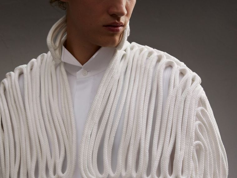 Hand-looped Rope Cape in White - Men | Burberry - cell image 4