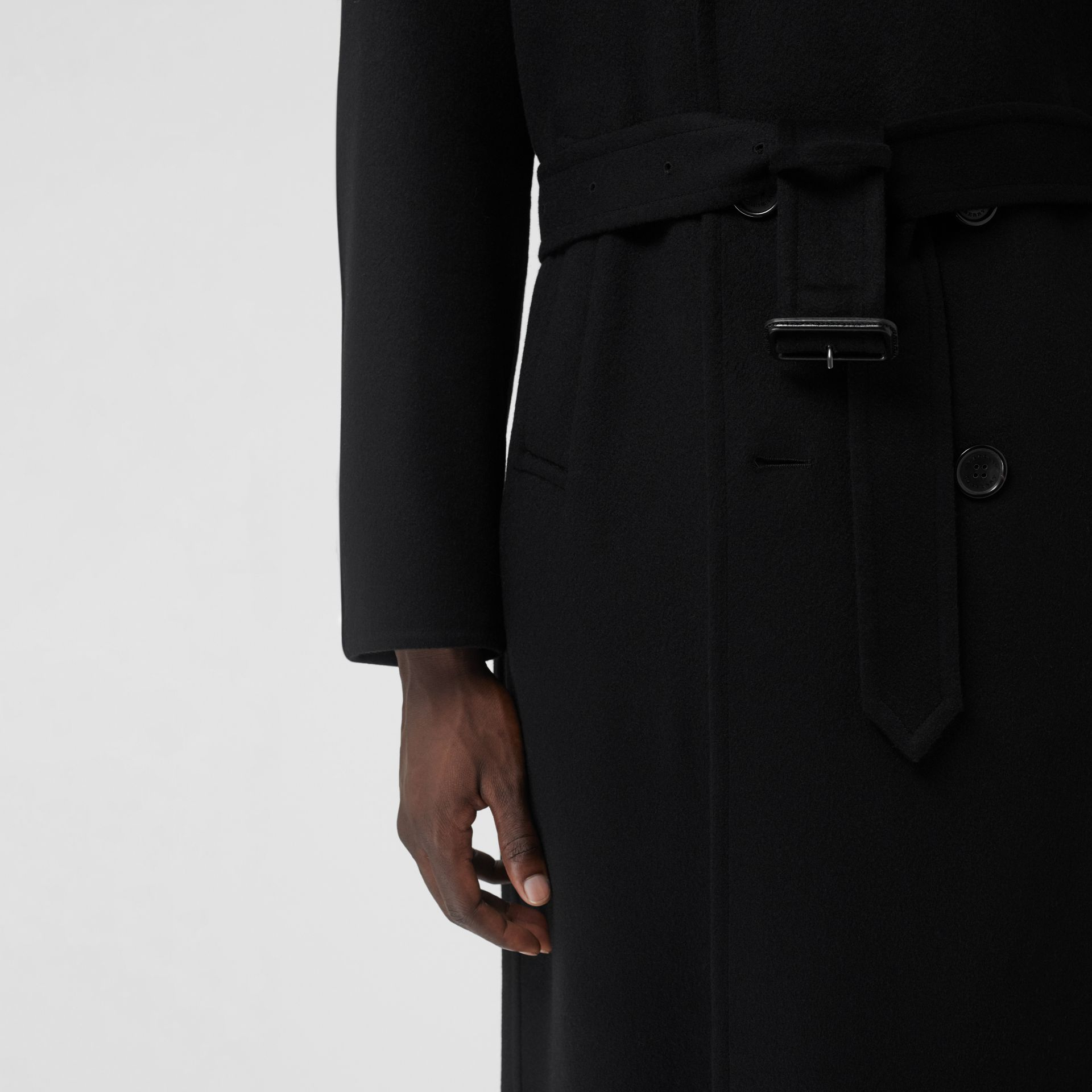 Double-faced Cashmere Trench Coat in Black - Men | Burberry Canada - gallery image 4