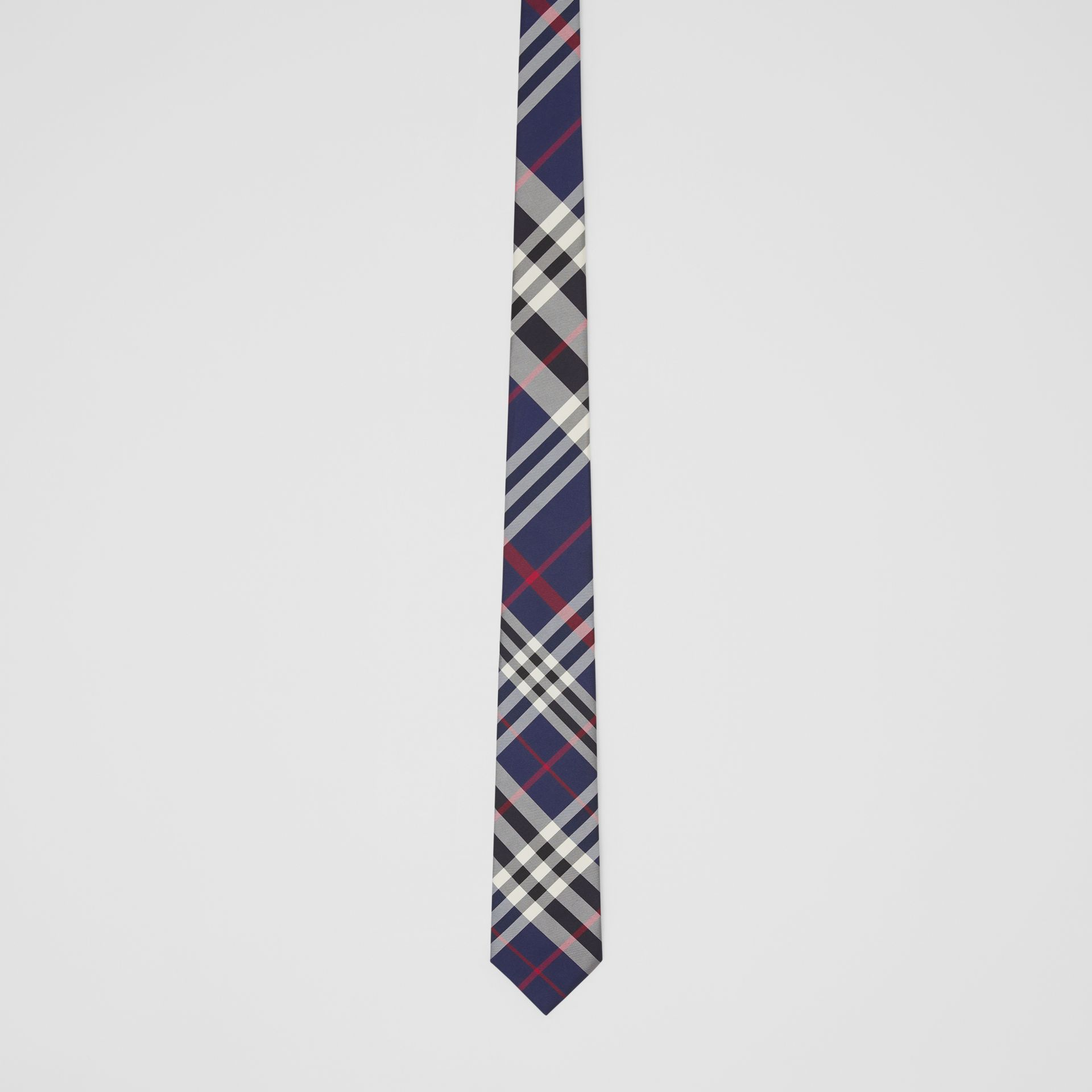 Classic Cut Check Silk Tie in Navy - Men | Burberry Hong Kong S.A.R - gallery image 3