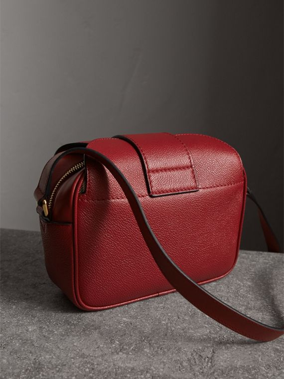 The Small Buckle Crossbody Bag in Leather in Parade Red - Women | Burberry - cell image 3