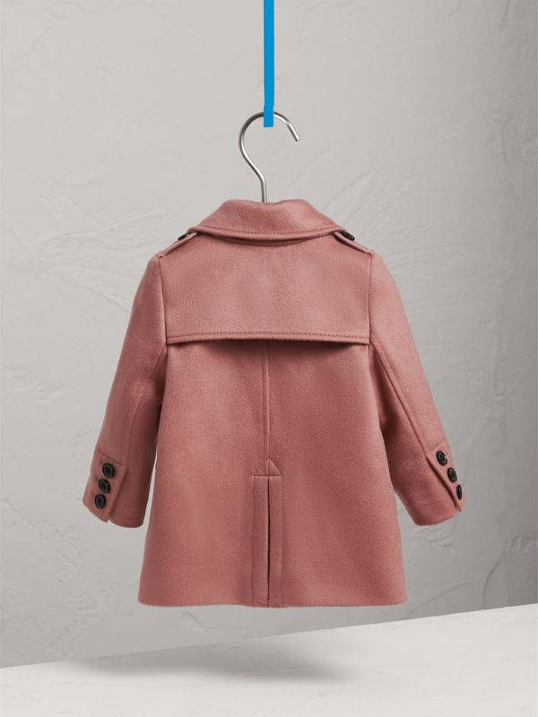 Cashmere Tailored Coat in Antique Rose | Burberry - cell image 3