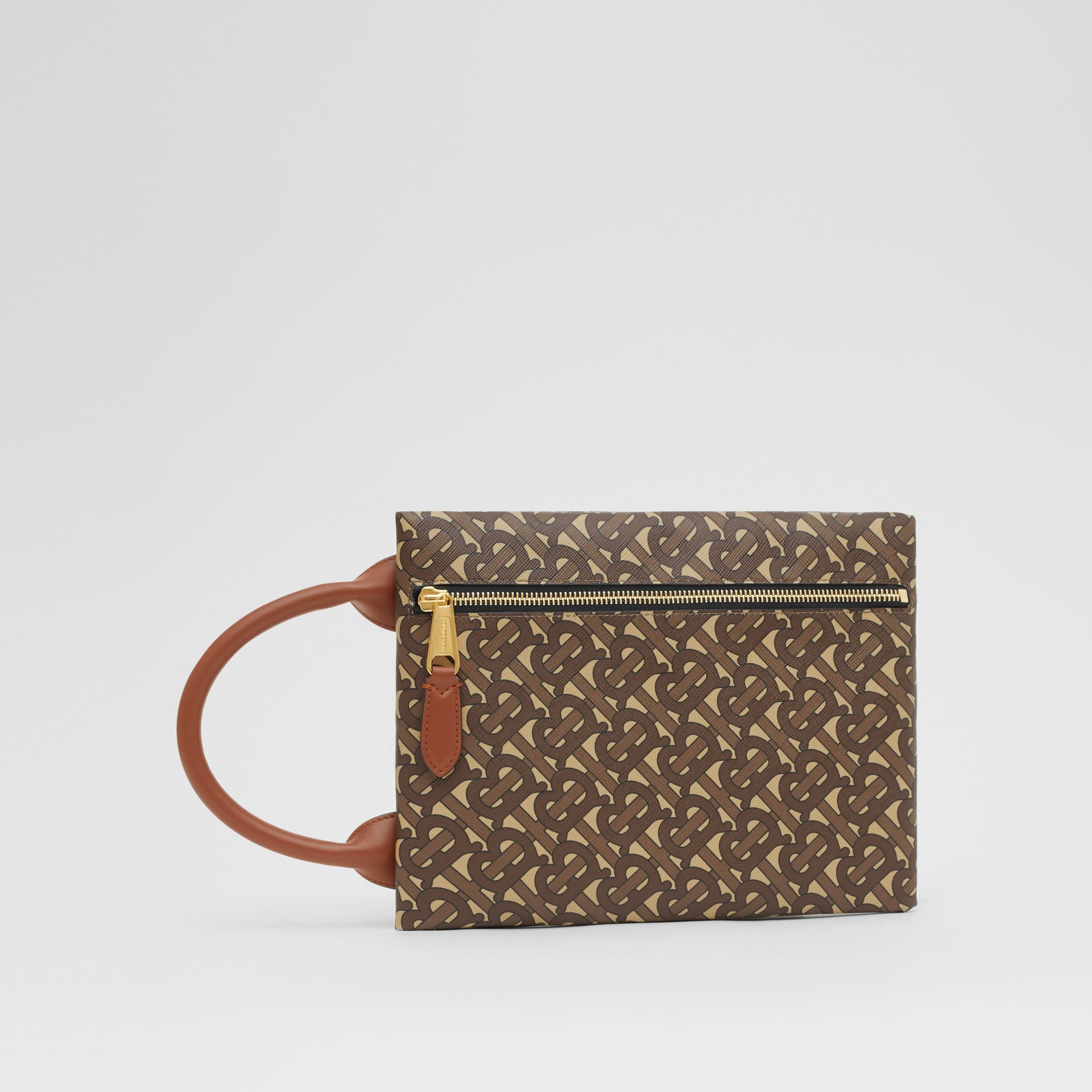 Monogram Print E-canvas Portrait Pouch in Bridle Brown - Men | Burberry - gallery image 3