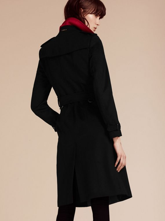 Noir Trench-coat en cachemire de coupe slim - cell image 3