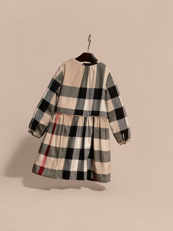 New classic check Check Pintuck Detail Cotton Dress - cell image 3