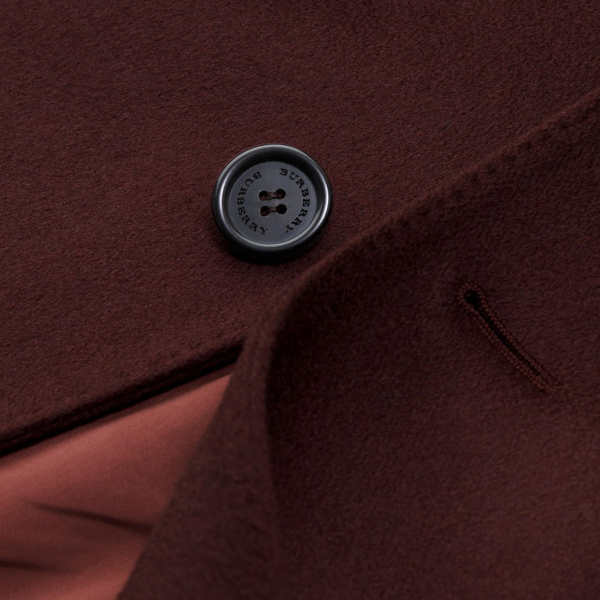 Plum Cashmere Overcoat - gallery image 2