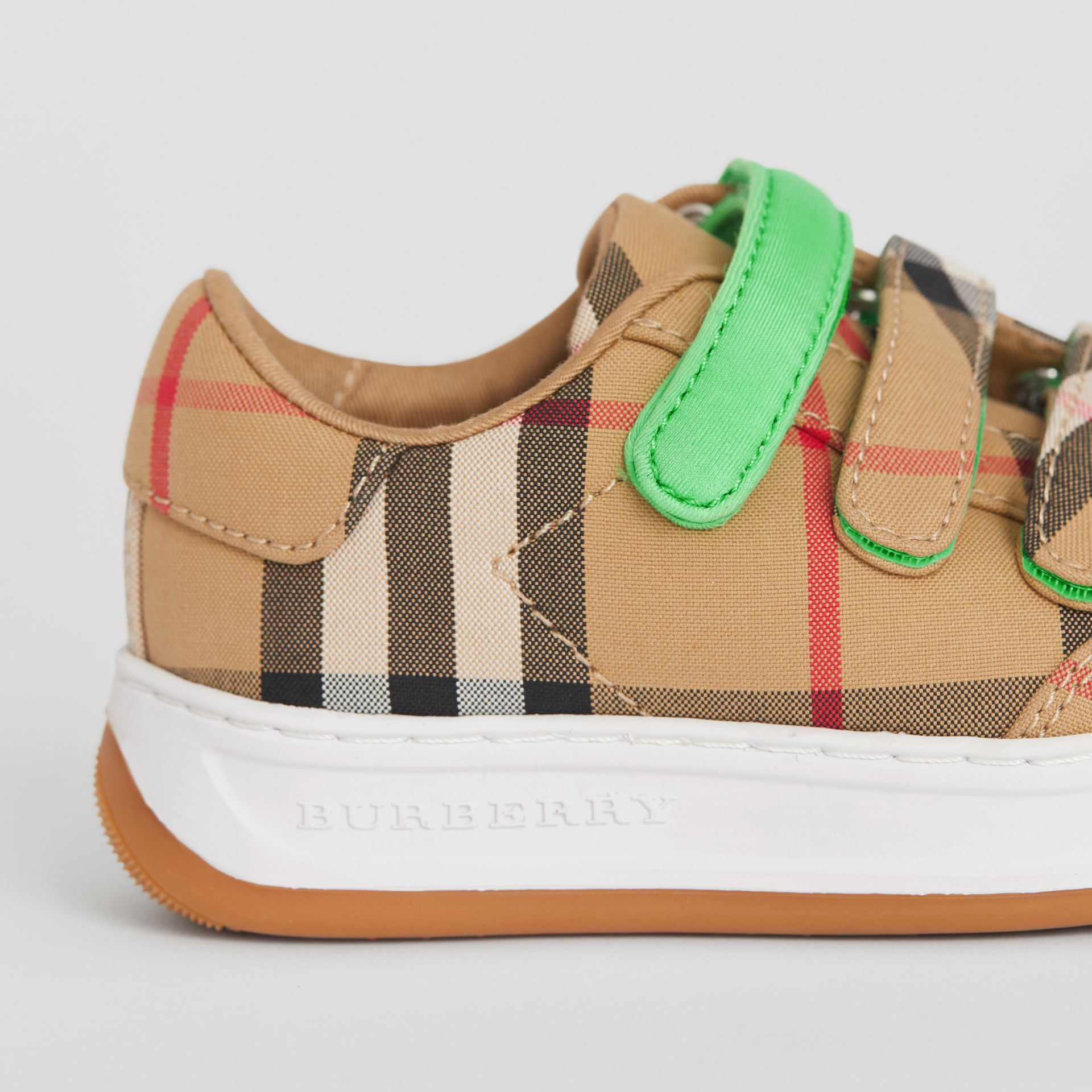 Vintage Check Sneakers in Antique Yellow/neon Green - Children | Burberry Hong Kong - gallery image 1