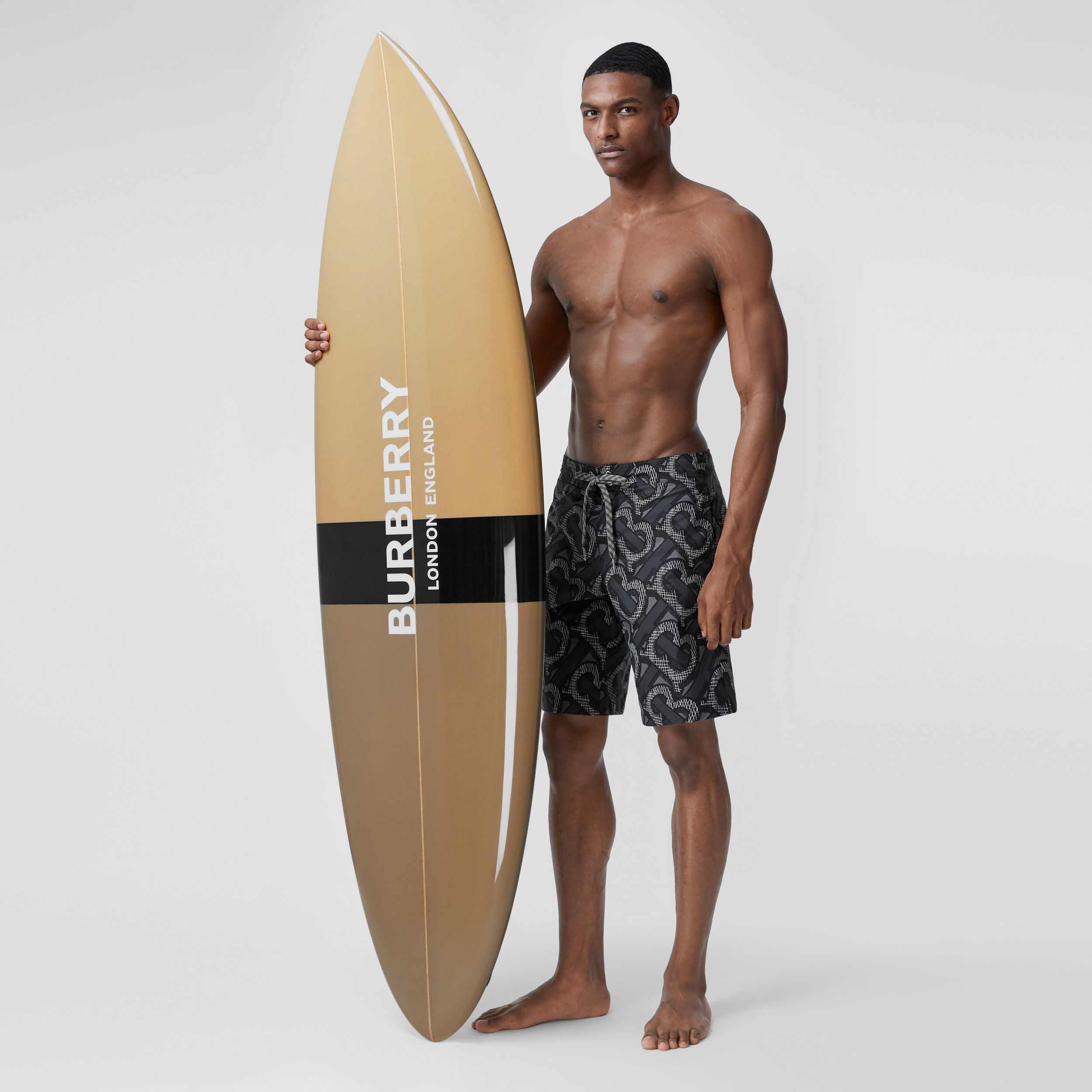 Monogram Print Surfboard in Dark Beige | Burberry - 3