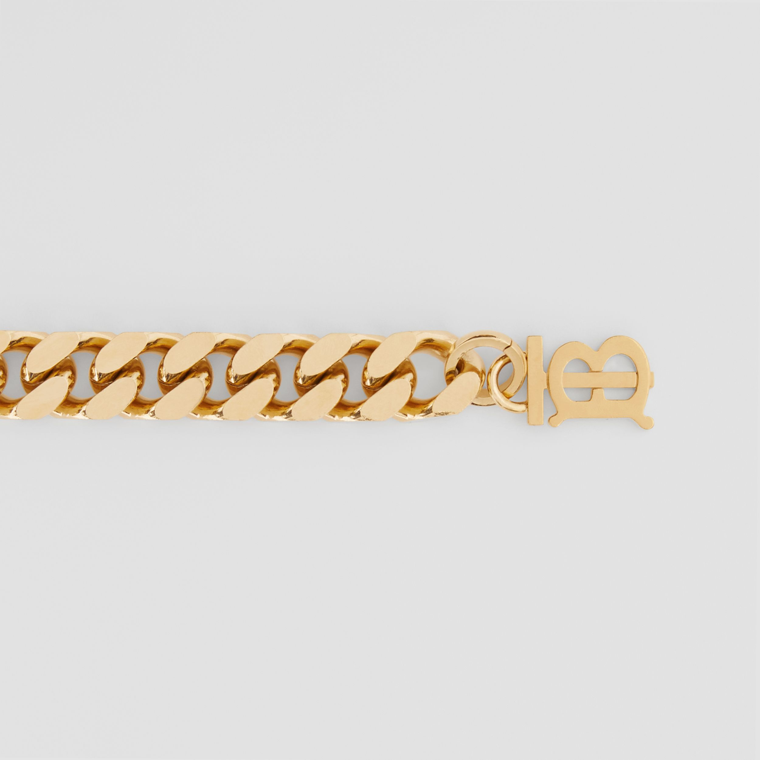 Monogram Motif Gold-plated Chain Belt in Light - Women | Burberry - 2