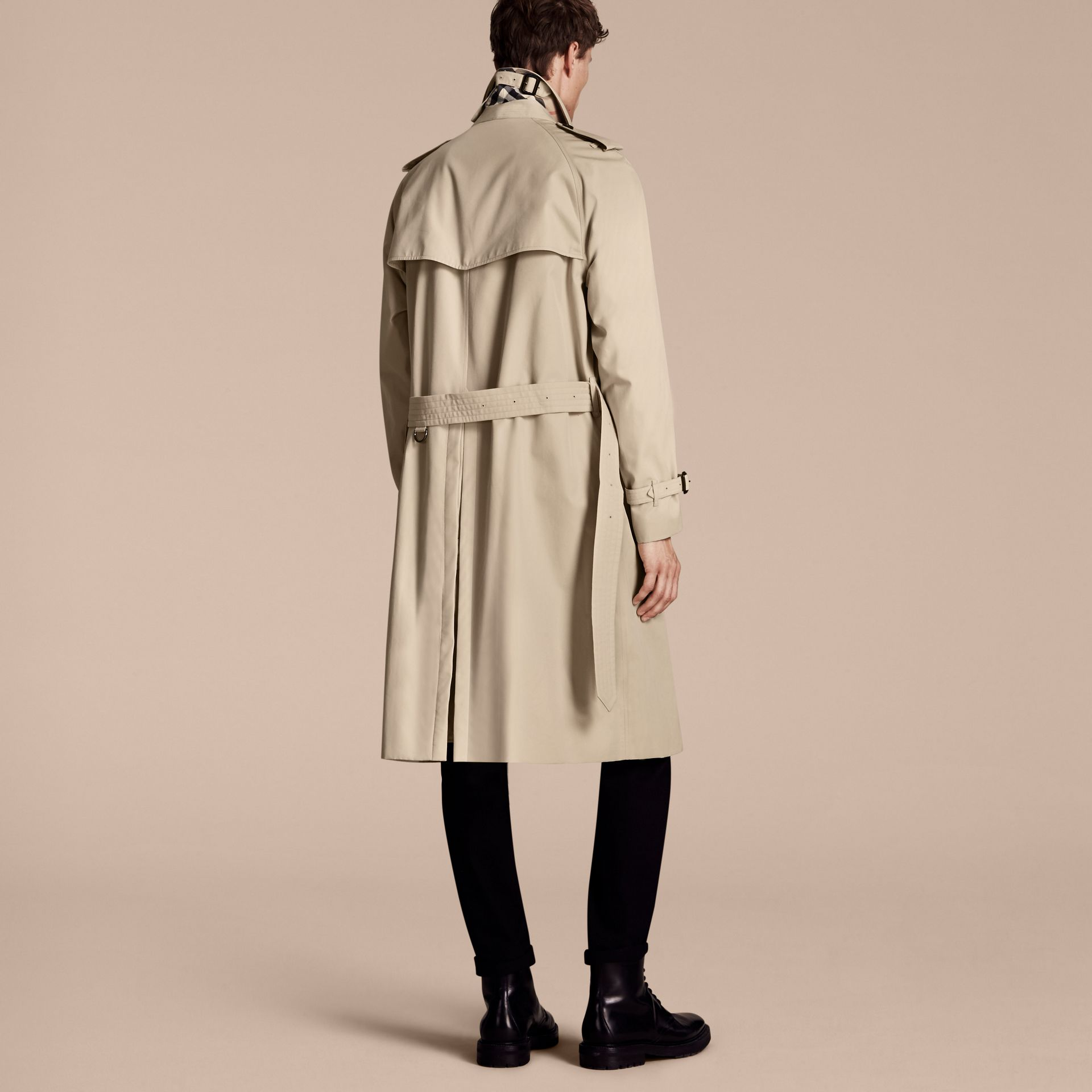 Stone The Westminster – Long Heritage Trench Coat Stone - gallery image 3
