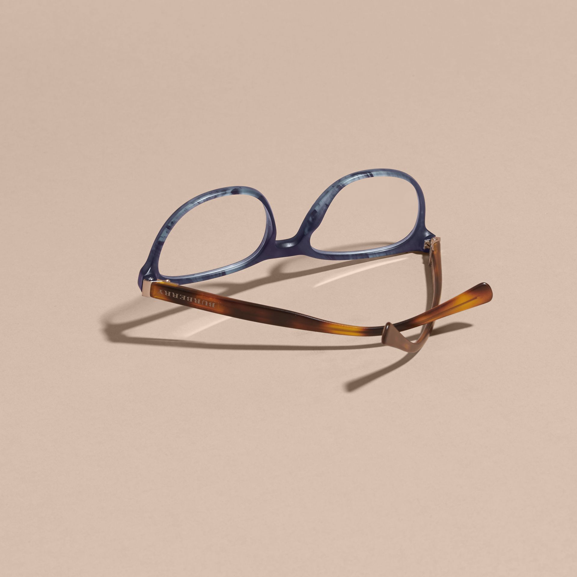 Square Optical Frames Deep Blue - gallery image 4