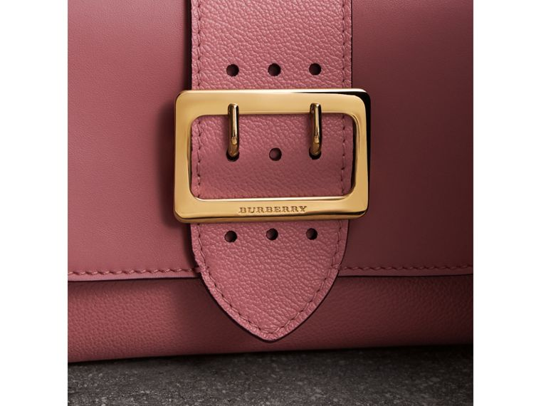 The Buckle Crossbody Bag in Leather in Dusty Pink - Women | Burberry - cell image 1