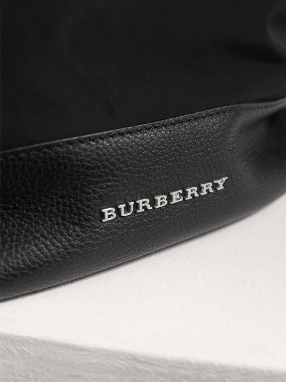 Leather Trim Baby Changing Rucksack in Black - Children | Burberry United Kingdom - cell image 1
