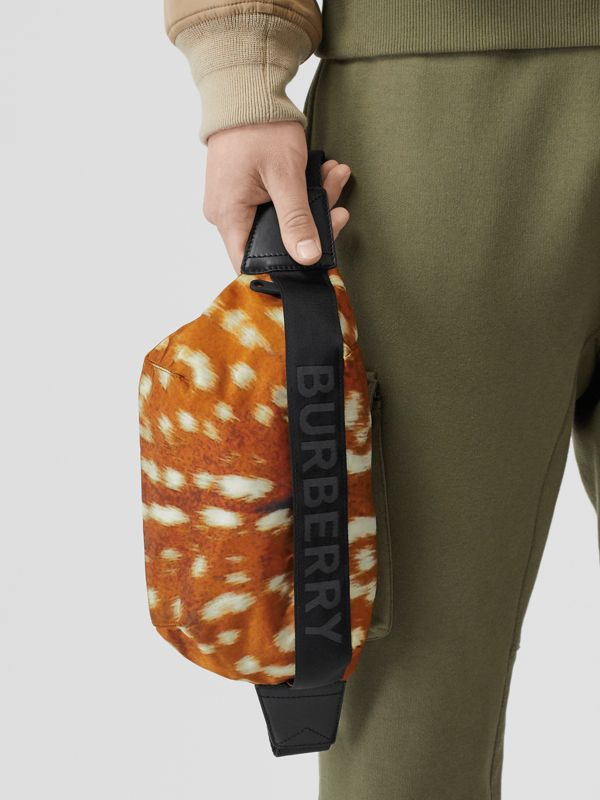 Medium Deer Print Nylon Bum Bag in Honey - Women | Burberry Hong Kong - cell image 3
