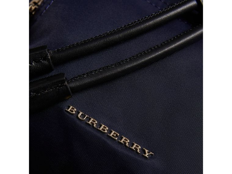 The Crossbody Rucksack in Nylon and Leather in Ink Blue - Women | Burberry - cell image 1