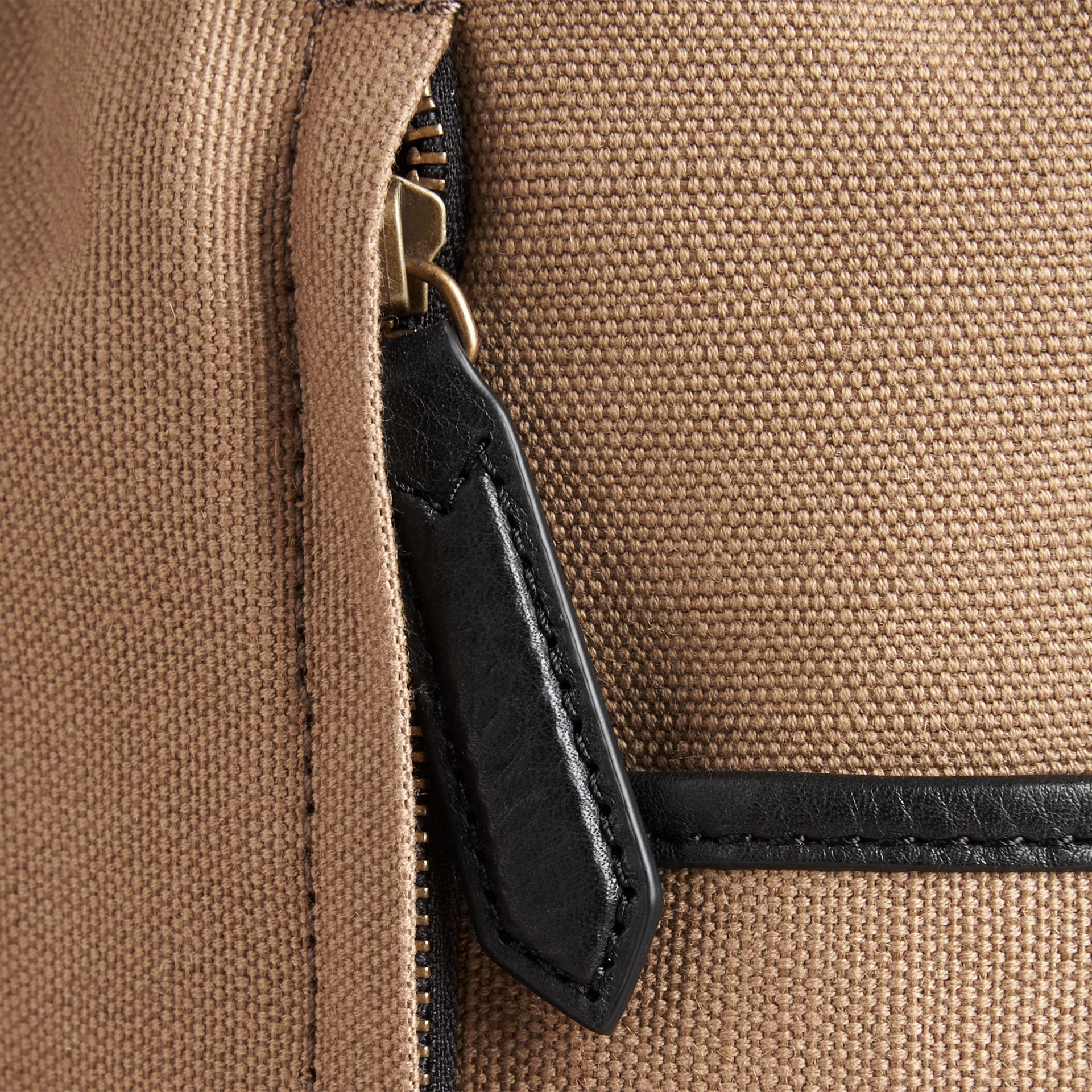 Camel Canvas Check Backpack Camel - gallery image 6