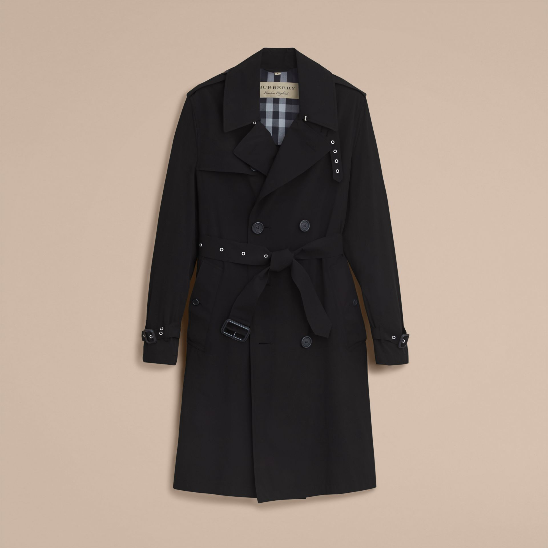 Lightweight Double-breasted Trench Coat - gallery image 4