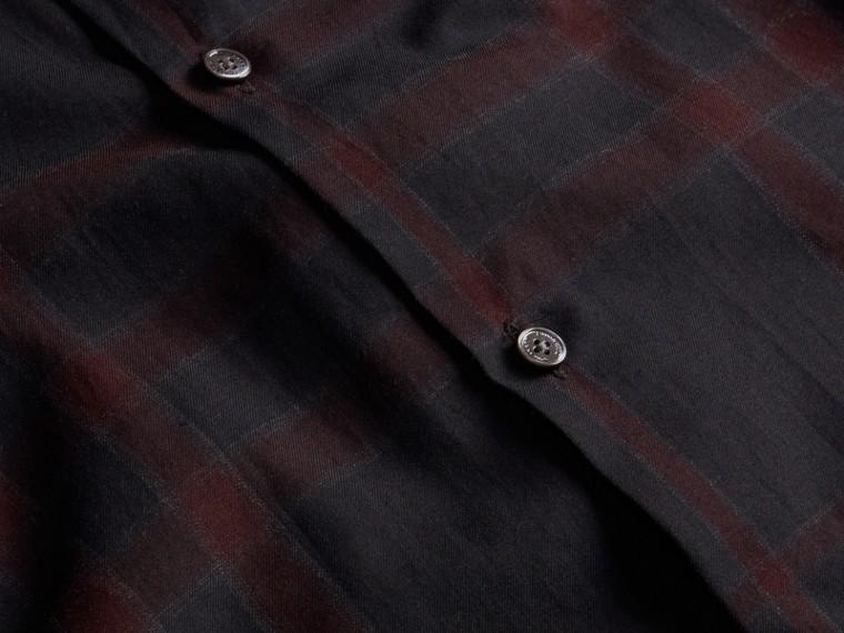Baie de sureau sombre Chemise en coton à motif check Baie De Sureau Sombre - cell image 1