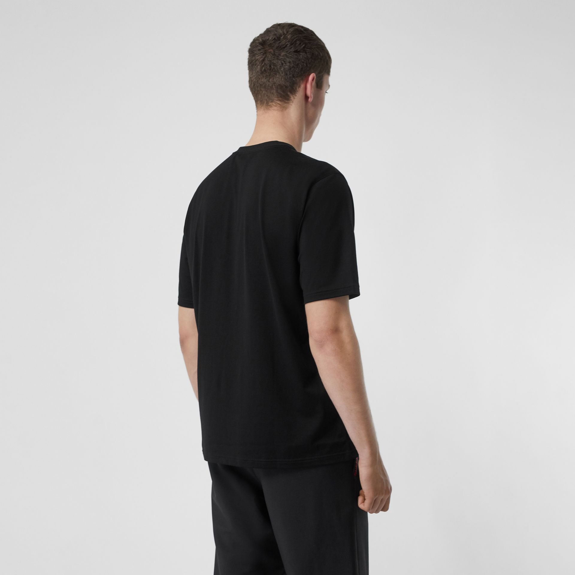 T-shirt en coton Horseferry (Noir) - Homme | Burberry - photo de la galerie 2