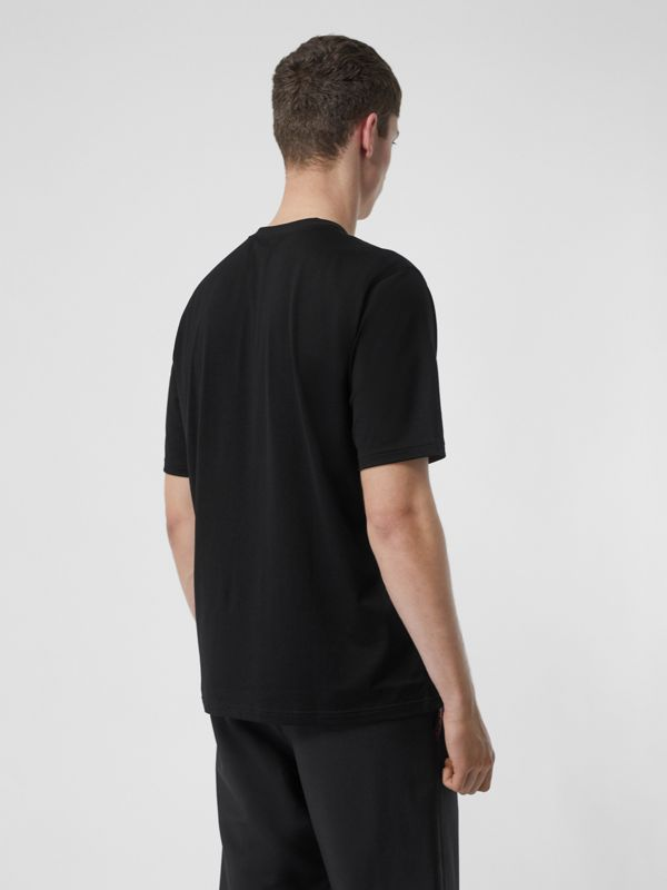 T-shirt en coton Horseferry (Noir) - Homme | Burberry - cell image 2