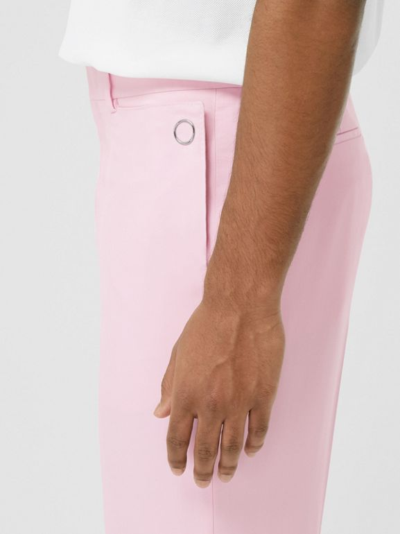 Tumbled Wool Wide-leg Tailored Trousers in Candy Pink - Men | Burberry - cell image 1