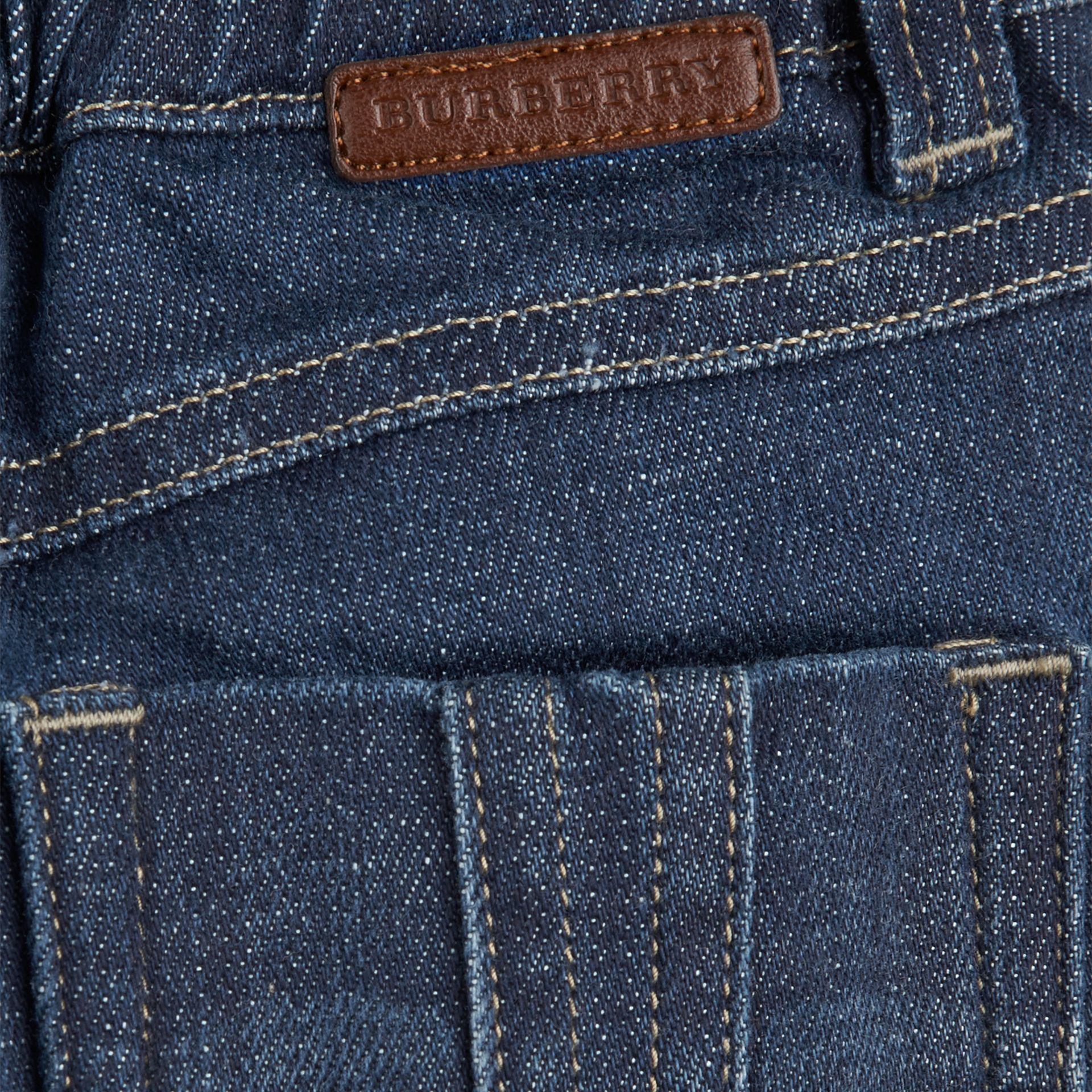 Blue Stretch Denim Jeans - gallery image 2