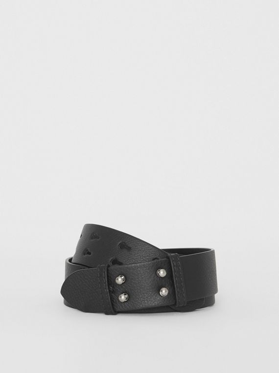 The Small Belt Bag Grainy Leather Belt in Black