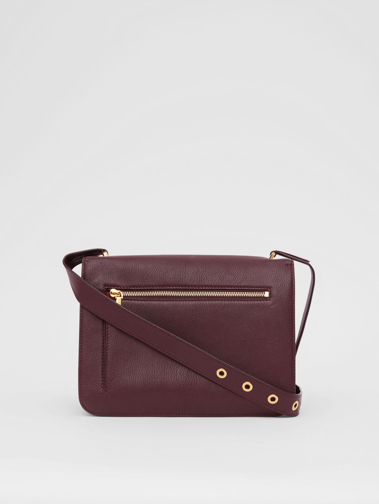 Sac Alice moyen en cuir grainé in Bordeaux Intense